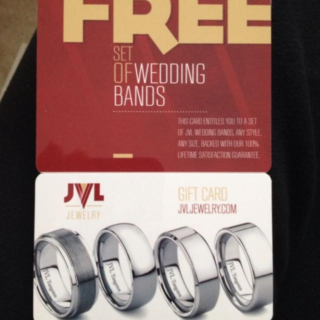 Gift Card For Free Set Of Wedding Bands From Jvl Jewelry