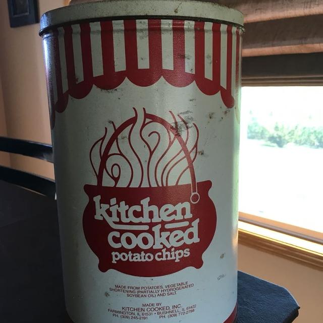 Find more Vintage Kitchen Cooked Potato Chip Tin. 1st Edition (1 ...