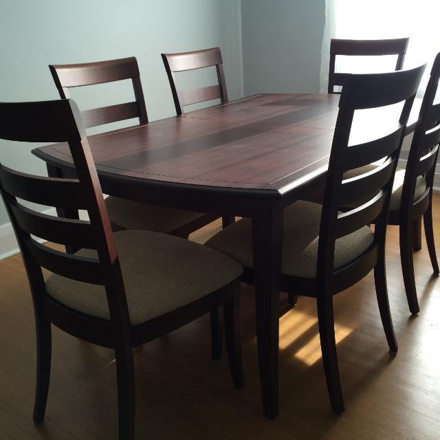 Shermag Oak Dining Room Table And 8 Chairs