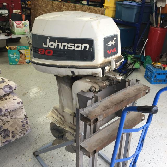 1992 Johnson V4 90 HP Outboard