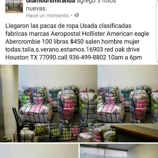 Pacas de ropa Usada clasificadas fabricas marcas Aeropostal Hollister  American eagle Abercrombie hombre mujer f82a313de98