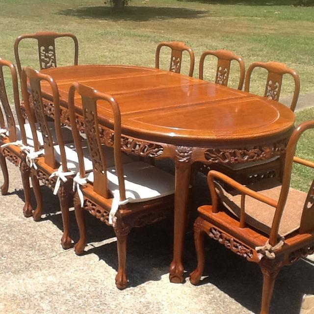 Best Rosewood 10 Piece Dining Room Set Hutch Table And Chairs For Sale In Ringgold Georgia 2019