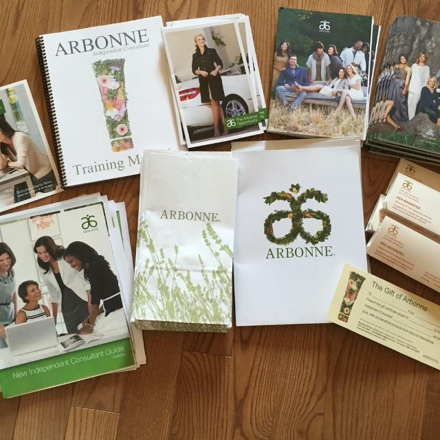 Arbonne re9 samples and business kit