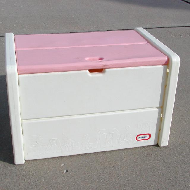 Carnival Toy Box Pink: Find More Little Tikes Pink & White Toy Box Toybox For