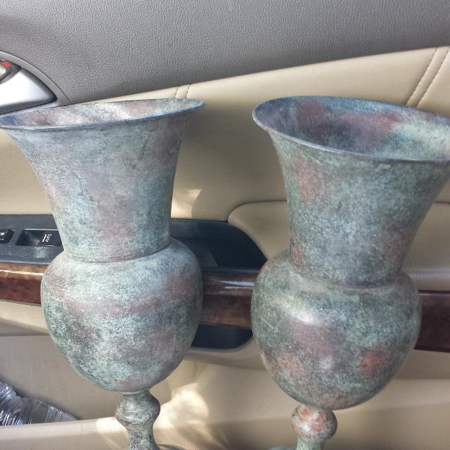 Find More Kirkland Metal Vases W Price Tag On Them 2995 Ea For Sale