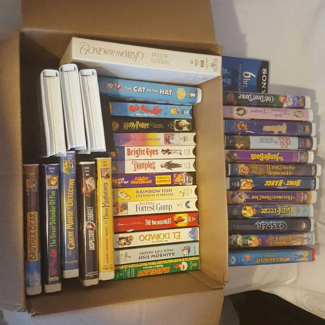 Best Vhs Tapes 35 Total Mostly Kids Movies For Sale In Mckinney