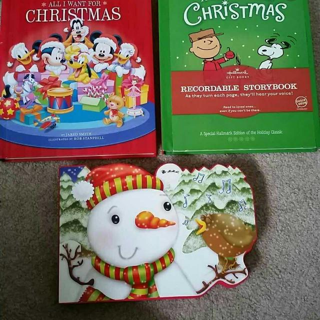 Recordable Christmas Books.2 Recordable Christmas Books Bottom One Sold