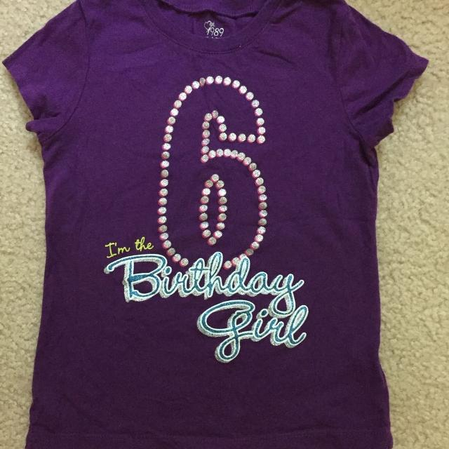 Childrens Place 6th Birthday Shirt