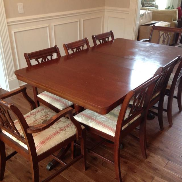 Duncan Phyfe Dining Table And 8 Chairs