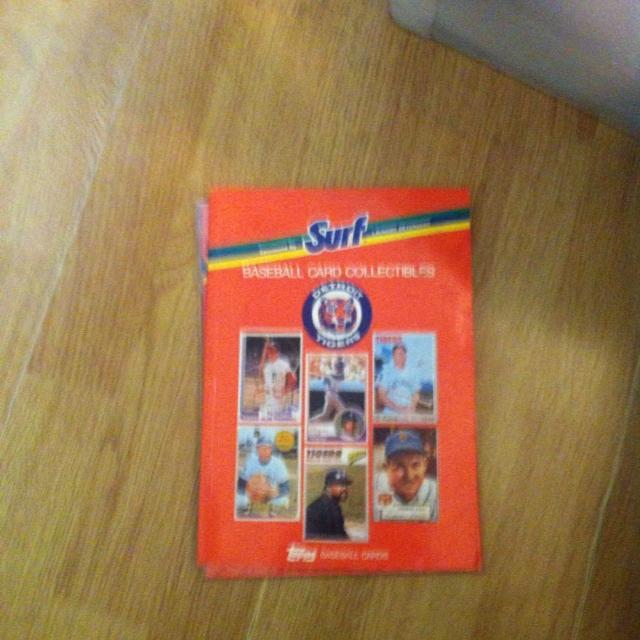 Surf Baseball Card Collectibles Detroit Tigers