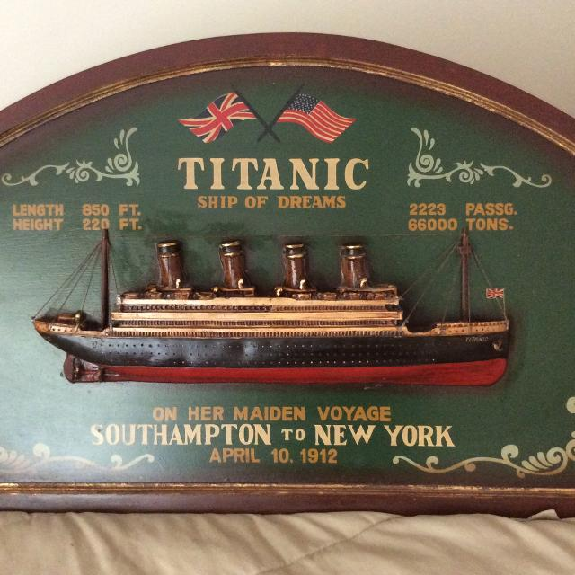 Best Titanic Wall Art Wood for sale in Asheville, North Carolina for ...