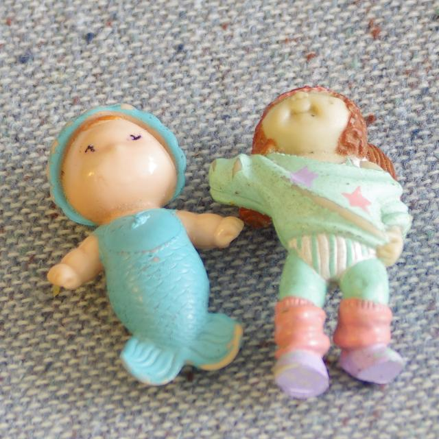 Find More Lot Of 2 80 S Tiny Plastic Toys Cabbage Patch Sea Wee