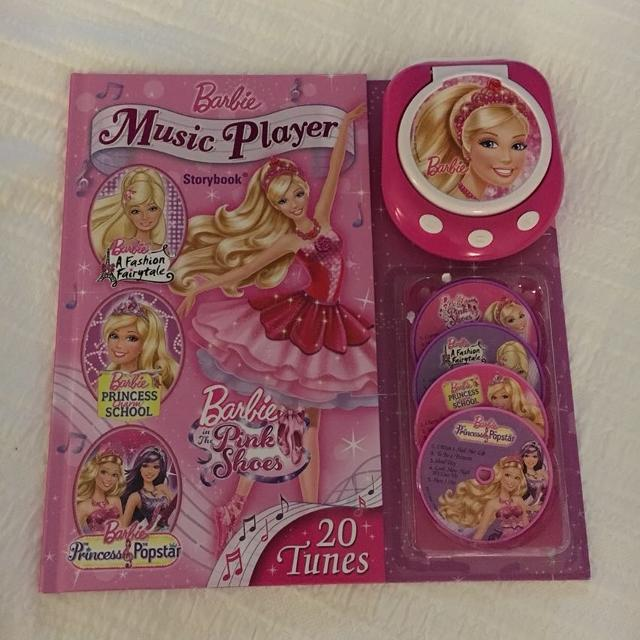 find more barbie music player storybook comes with player 4 disks