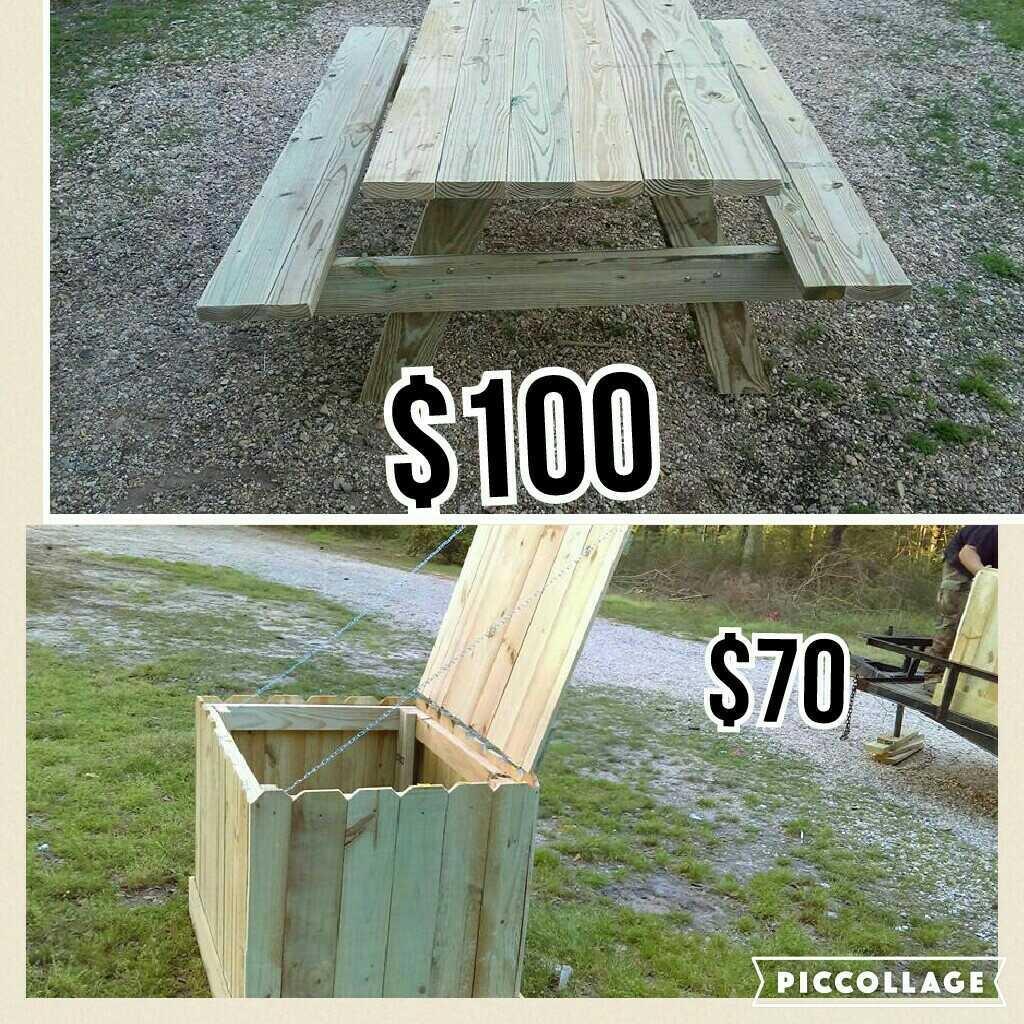 best garbage bins 6 ft picnic table for sale in hattiesburg mississippi for 2019. Black Bedroom Furniture Sets. Home Design Ideas