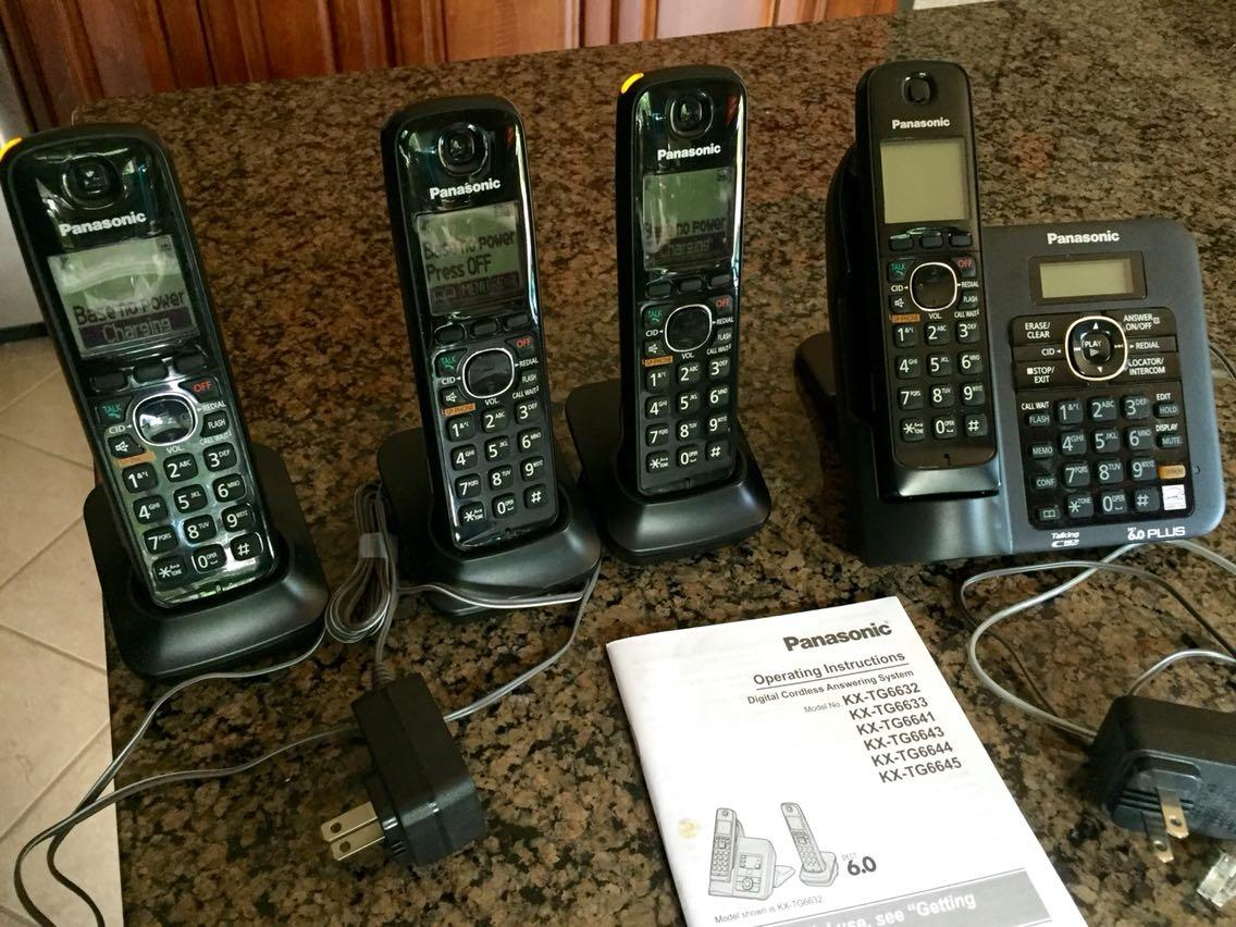 Find More Panasonic Kx Tg6641 4 Handset Cordless Phone For Sale At