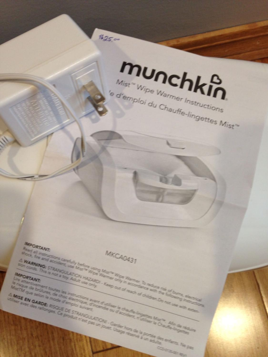 Find More Munchkin Mist Wipe Warmer For Sale At Up To 90 Off