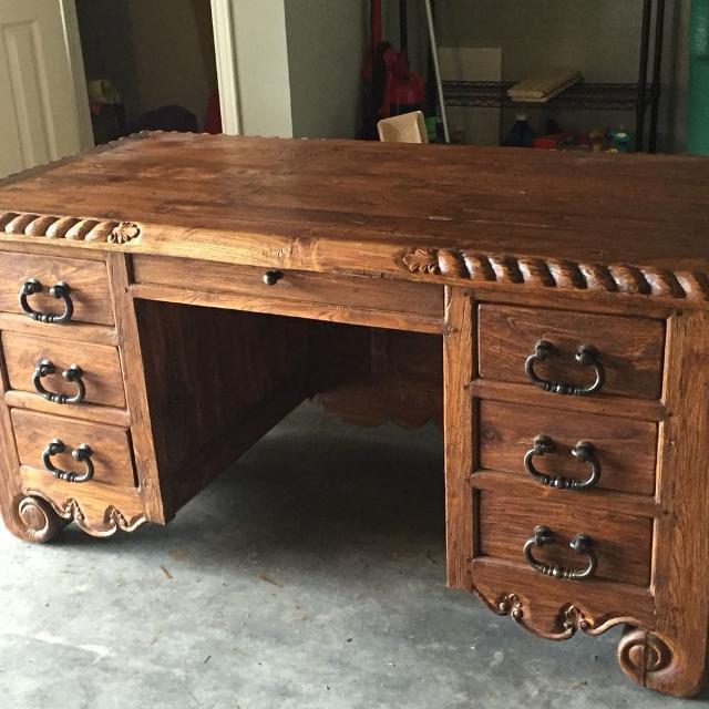 Best Jason Scott Teak Desk For Sale In Houston Texas For 2019