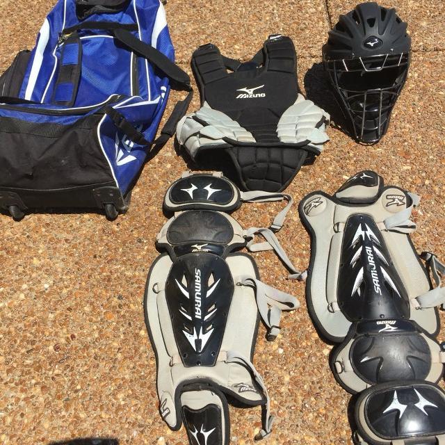 Best Mizuno Samurai Catchers Gear W Helmet Bag For Sale In
