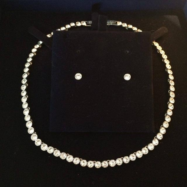 d1a754e35 Find more Authentic New-in-box Swarovski Tennis Choker/earring Set ...
