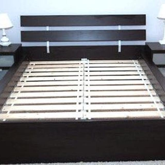 Ikea Hopen Full Bed Frame With Matching Night Stands