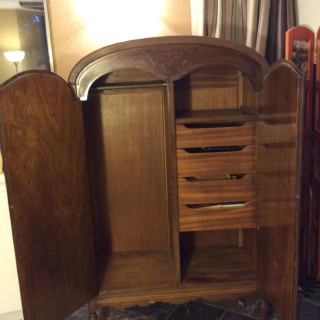Tell City Furniture Company Antique Armoire Art Deco 1940s Great Condition