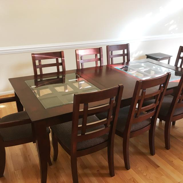 Ashley Dining Table W 8 Chairs