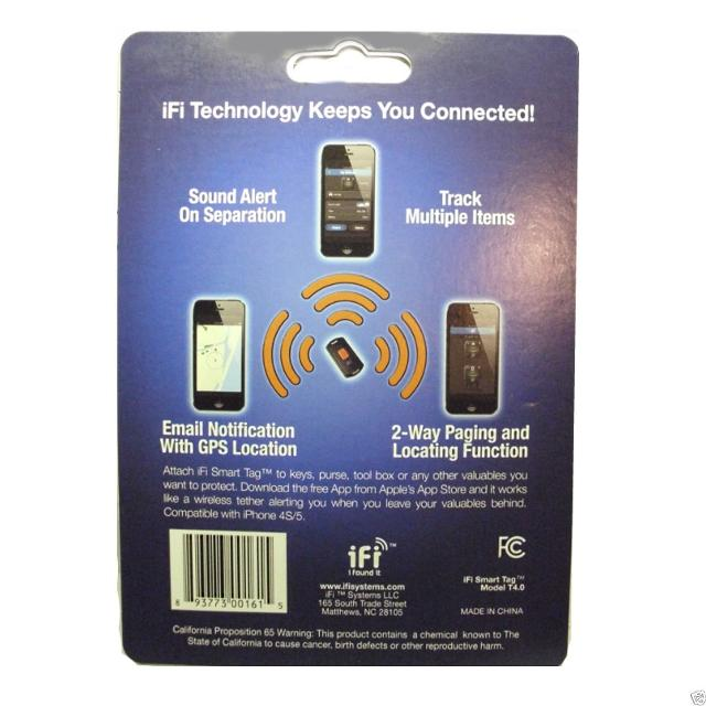 IFI Model T4 0 RP Smart Tag 4 0 iPhone iPad (Retail Packaging)