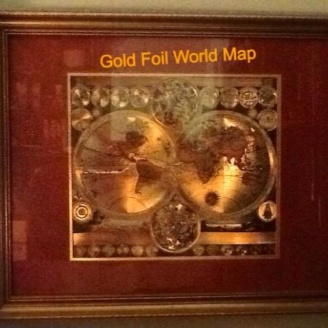 Best large rare antique world map california as an island gold large rare antique world map california as an island gold foil etched double gumiabroncs Gallery