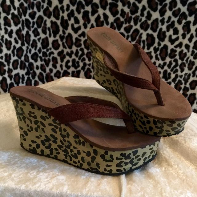 9ffadec16ba84e Find more Colin Stuart Brown Platform Wedge Flip Flop Sandals With ...