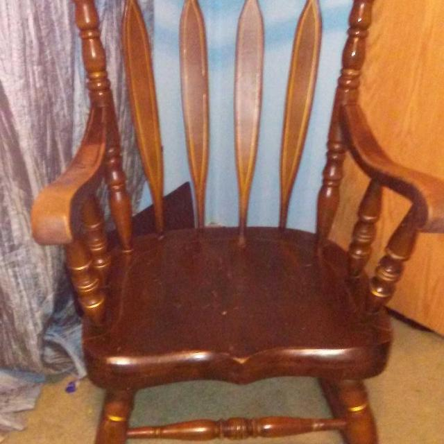 Find More Old Vintage Heavy Duty Wooden Rocking Chair Reduced 40