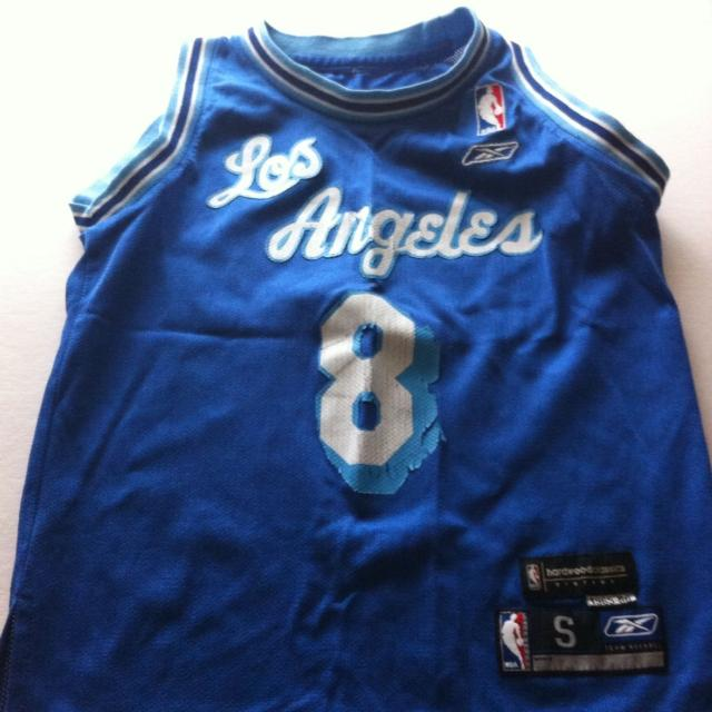 new product a5a2b 2c1cc Nba lakers jersey kids size small Kobe Bryant #8