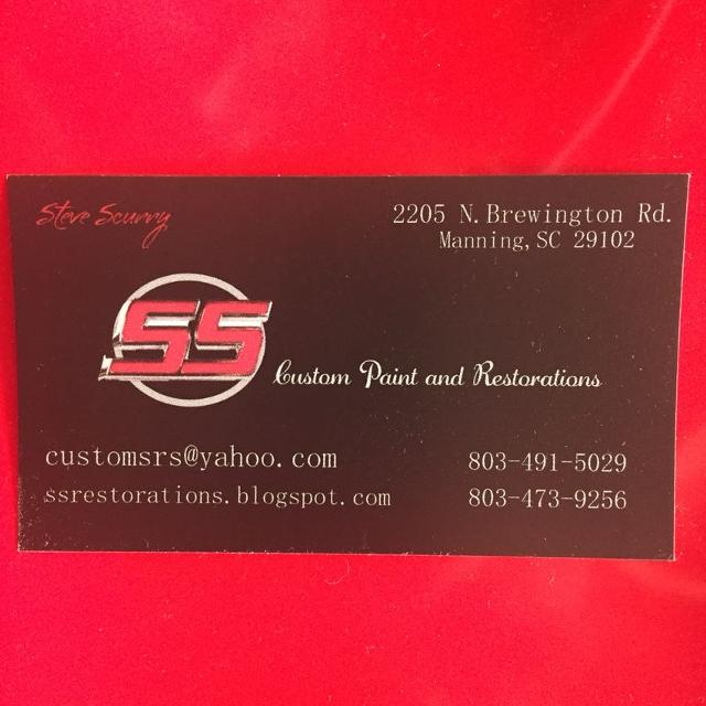 SS Custom Paint Restorations Call For Your Paint Body Estimates - Carolina paint and body