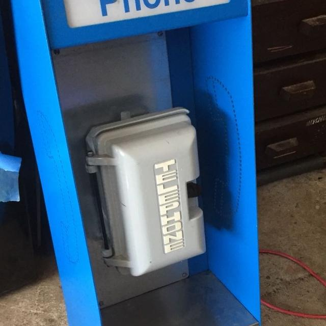 Payphone Style Phone Booth