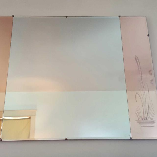 Best Large Decorative Vintage 40s Era Wall Mirror With Rose Etched Wheat Side Panels For Sale In Lancaster Pennsylvania For 2020