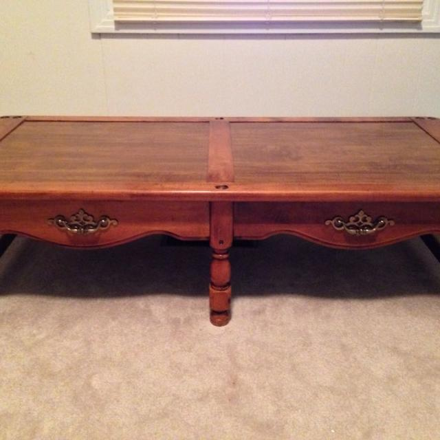 Coffee Table Pick Up Line.1976 Bicentennial Celebration Furniture Line 26wx58l Solid Wood Coffee Table Original Finish Hardware Pretty Grain Great Condition