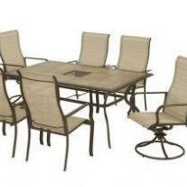 Martha Living Cardona 7 Piece Patio Set And Umbrella