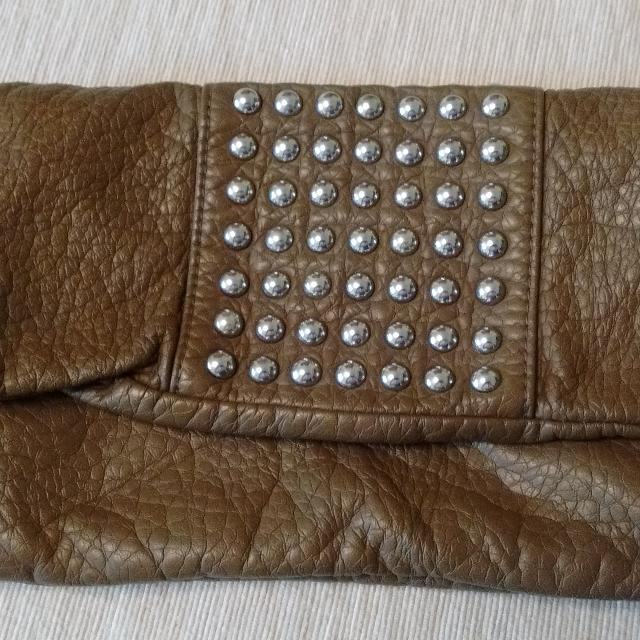 7cbd98633efb Find more Brown Studded Clutch for sale at up to 90% off
