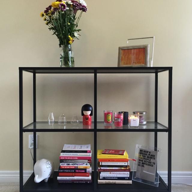 find more ikea vittsjo shelf unit for sale at up to 90 off. Black Bedroom Furniture Sets. Home Design Ideas