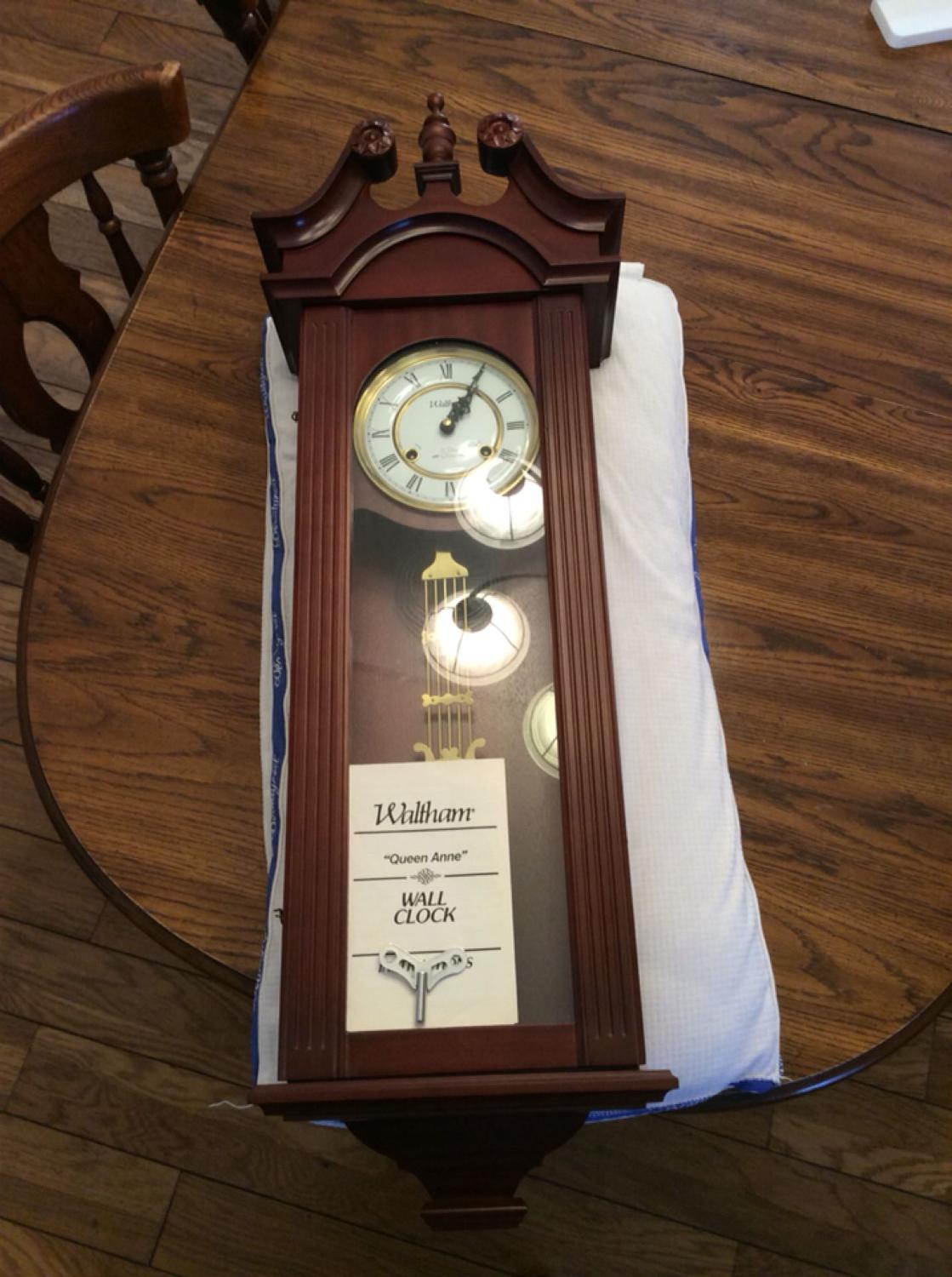 Best signed by waltham queen ann 31 day chime wall clock for best signed by waltham queen ann 31 day chime wall clock for sale in bloomington indiana for 2017 amipublicfo Image collections