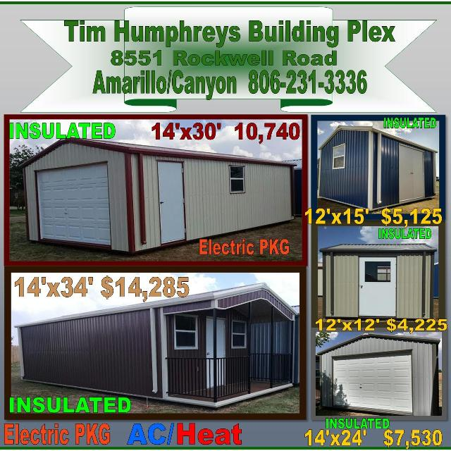 Portable Buildings Steel in Amarillo, Texas for 2019