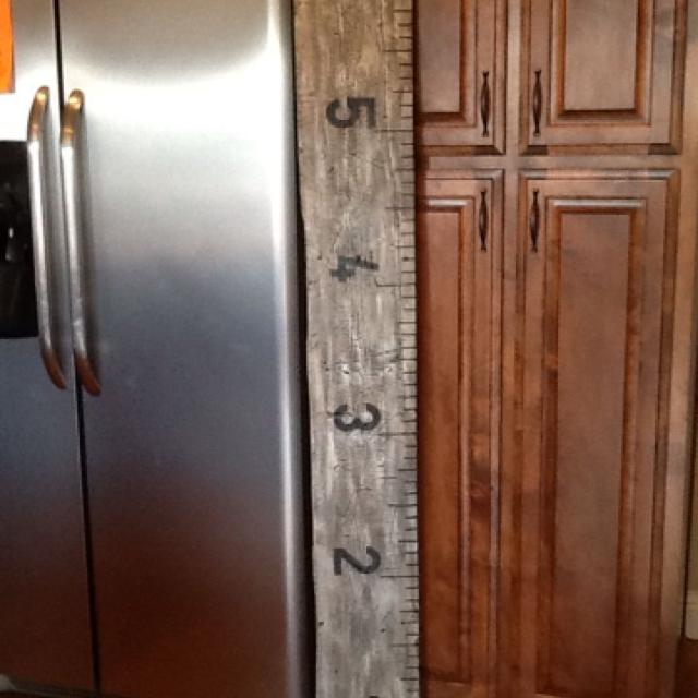 Best Barn Wood Ruler Growth Chart Antiqued White For Sale In