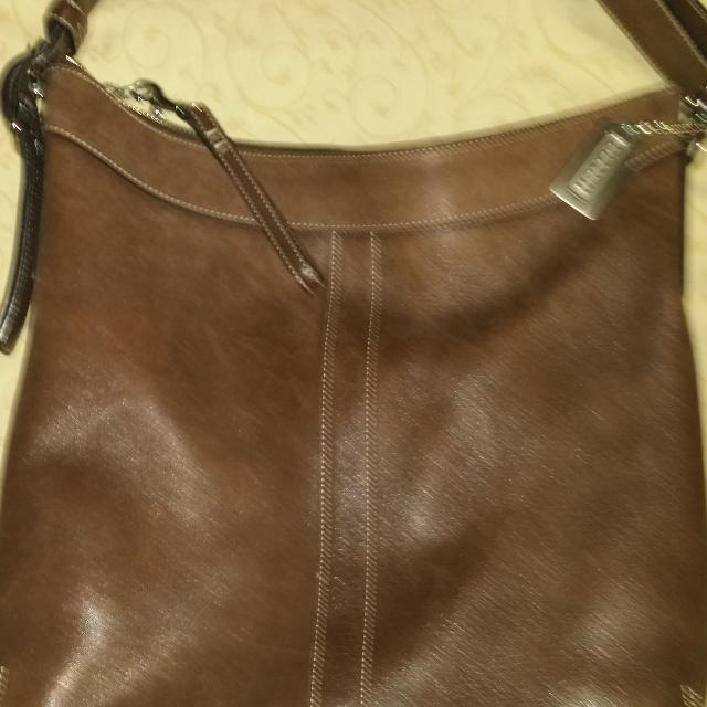 592ea3d863caf Best Vintage Coach Brown Leather Purse for sale in Kerrville, Texas for 2019