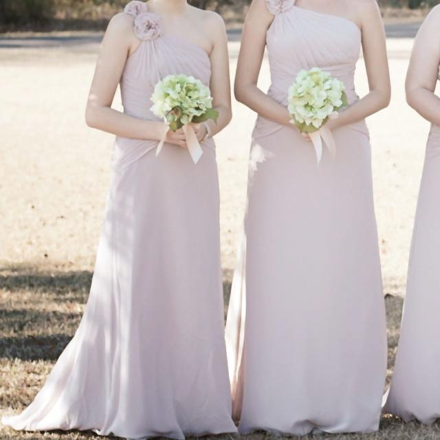 b80125cccd Find more 2 Bridesmaid Dresses One Shouldered In Biscotti for sale ...