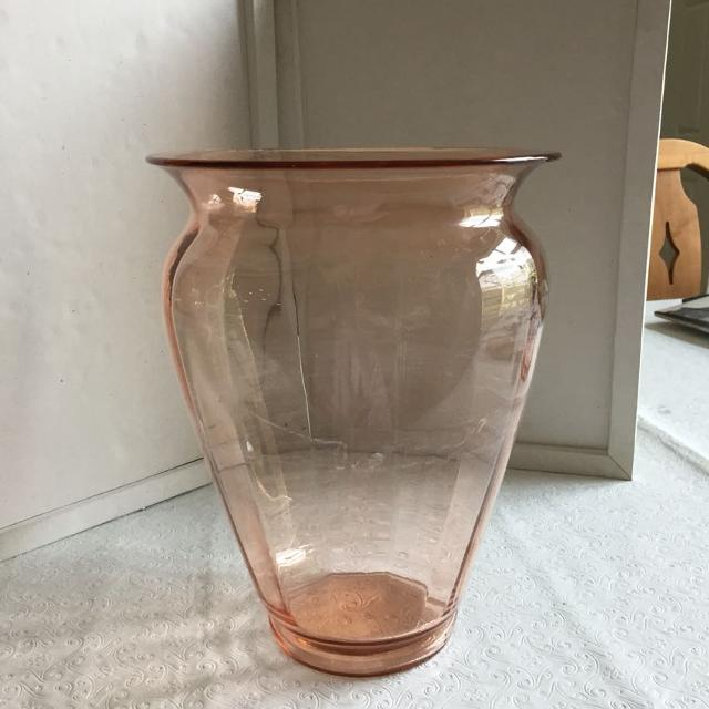 Best Pink Depression Glass Vase For Sale In Savannah Georgia For 2018