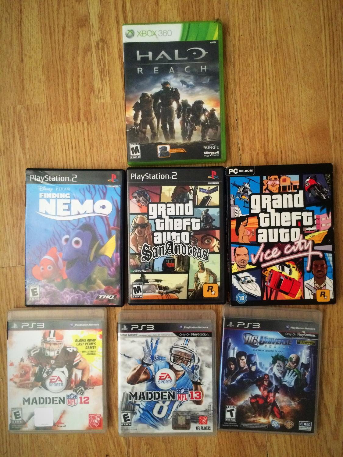 Seven games in total  Three (PS3) games, two (PlayStation), one (xbox360)  one (pc-cd ROM)