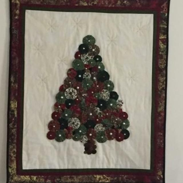 Best Quilted Christmas Tree Wall Hanging For Sale In Richmond