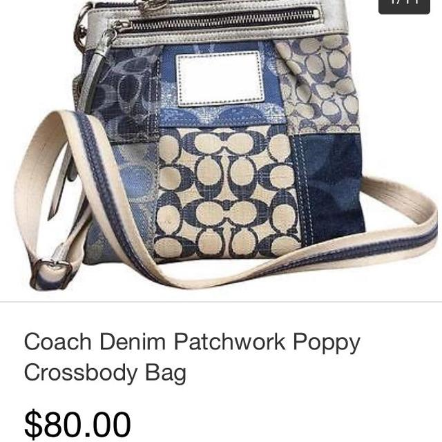 ecacedfc38 Best Coach Poppy Denim Patchwork Crossbody Bag for sale in Victoria ...