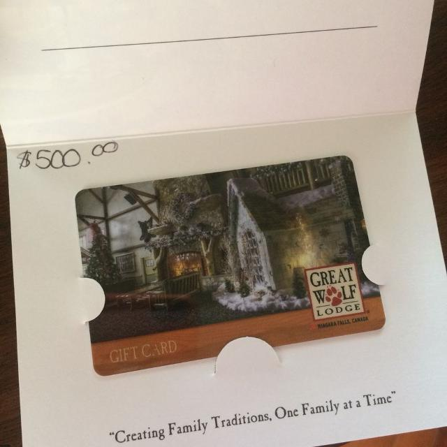Find more $500. Great Wolf Lodge Gift Card For $450. for sale at up ...