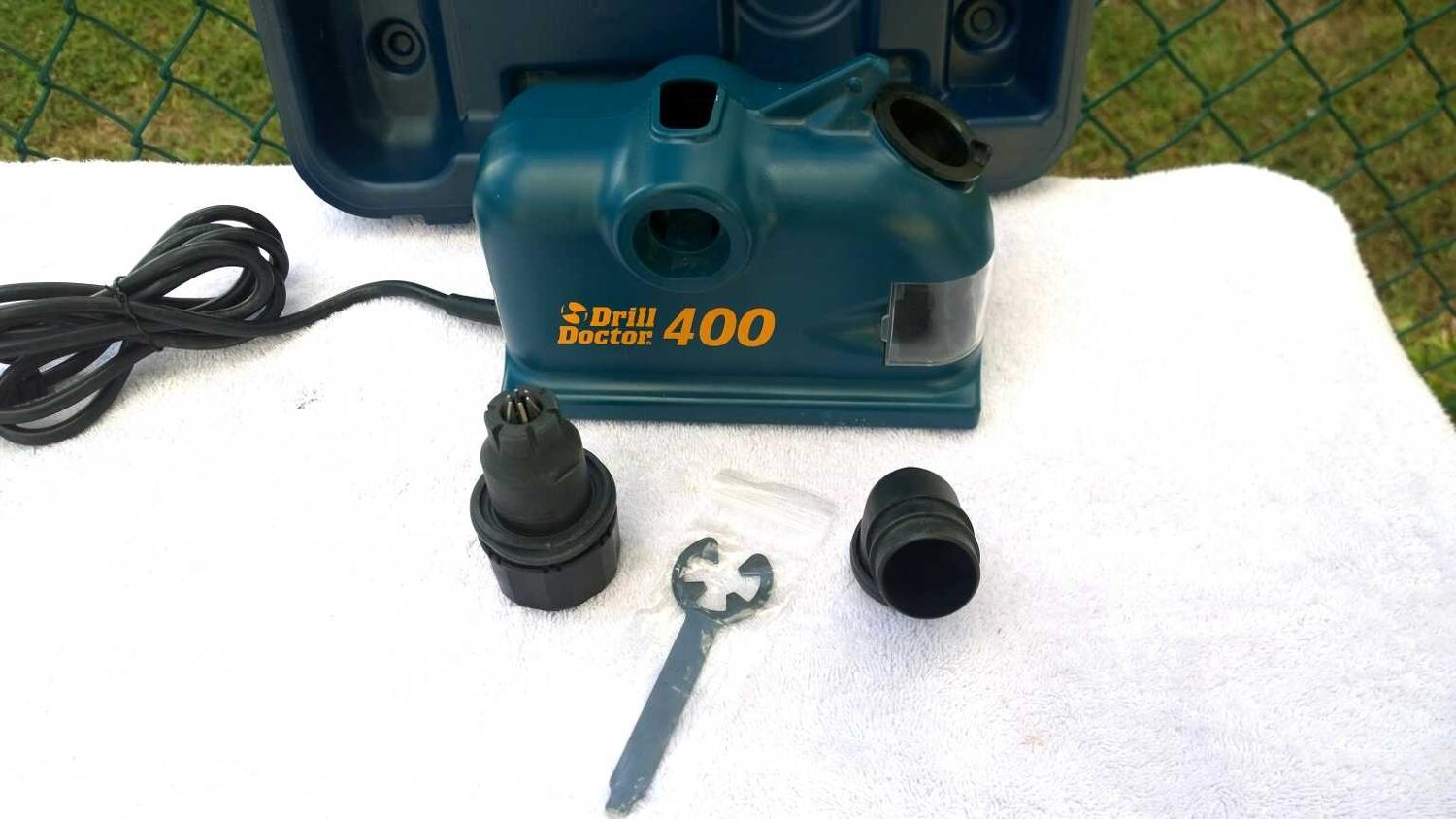 Best Drill Doctor 400 Drill Bit Sharpener Like New2 Set Suction Cup