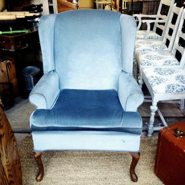 Find More Light Blue Velvet Wingback Chair For Sale At Up To 90 Off